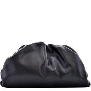 Bottega Veneta Black Calf  Leather The Pouch Clutch Bag