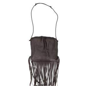 Bottega Veneta Brown Leather The Fringe Pouch Shoulder Bag