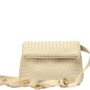 Bottega Veneta Beige Intrecciato Nappa Leather Bv Fold Bag