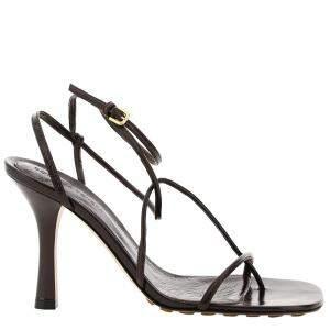Bottega Veneta Black Bv Line Leather Sandals Size EU 36