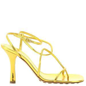 Bottega Veneta Yellow Bv Line Leather Sandals Size EU 38