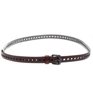 Bottega Veneta Red RIng Hole Leather Belt One Size