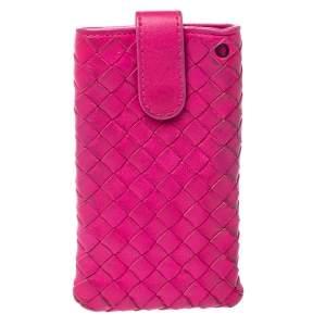 Bottega Veneta Fuchsia Intrecciato Nappa iPhone 5 Case