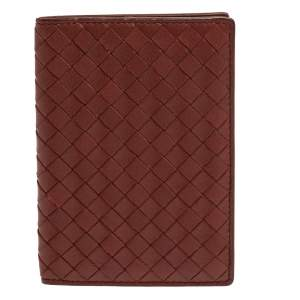 Bottega Veneta Copper Intrecciato Leather Passport Holder