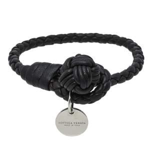 Bottega Veneta Brown Intrecciato Leather Knot Bracelet