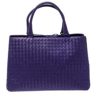 حقيبة يد بوتيغا فينيتا جلد انترشياتو بنفسجية