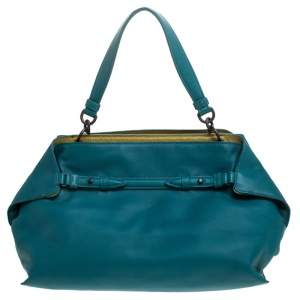 Bottega Veneta Teal Leather Satchel