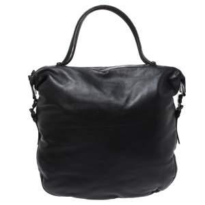 حقيبة هوبو بوتيغا فينيتا جلد نقشة التمساح و جلد بني و أسود
