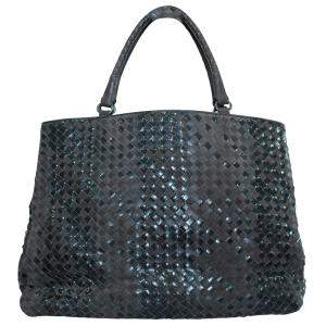 Bottega Veneta Brown Intrecciato Leather Large Tote Bag