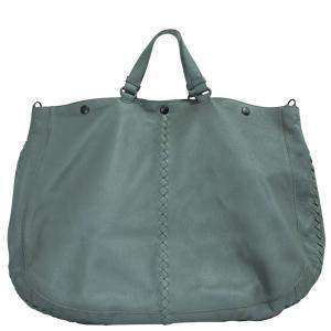 Bottega Veneta Grey Lambskin Leather Tote Bag