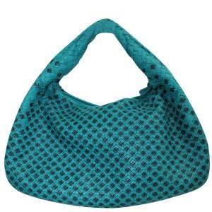 Bottega Veneta Green Leather Tote Bag