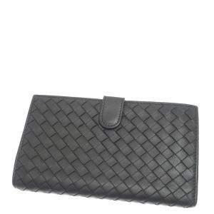 Bottega Veneta Back Intrecciato Leather Long Wallet