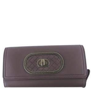Bottega Veneta Brown Leather Bifold Long Wallet