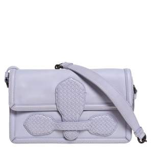 Bottega Veneta Light Lilac Leather Rialto Shoulder Bag