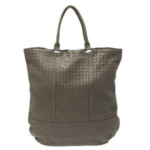 Bottega Veneta Khaki Intrecciato Leather Hobo