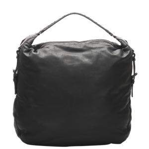 Bottega Veneta Black Intrecciato Leather Hobo Bag