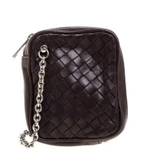Bottega Veneta Brown Intrecciato Leather Coin Purse