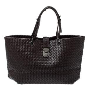 Bottega Veneta Cacao Brown Intrecciato Leather Large Capri Tote