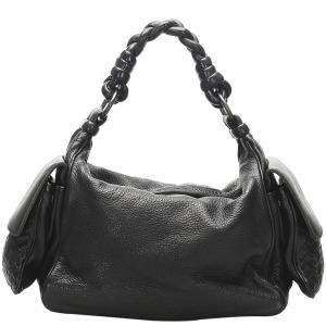 Bottega Veneta Black Leather Cocker Bag
