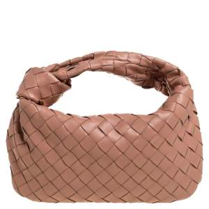 Bottega Veneta Beige Leather Mini BV Jodie Bag