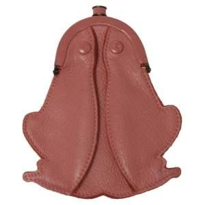 Bottega Veneta Pink Leather Frog Coin Purse