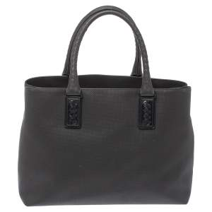 Bottega Veneta Dark Grey PVC Marco Polo Tote