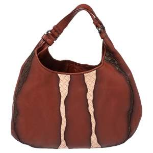 Bottega Veneta Multicolor Ombre Intrecciato Leather Campana Hobo