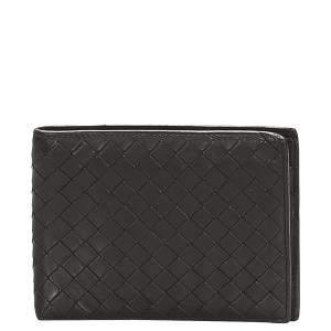 Bottega Veneta Black Leather Wallet