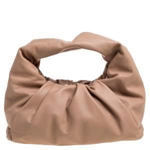 Bottega Veneta Beige Leather The Shoulder Pouch Bag