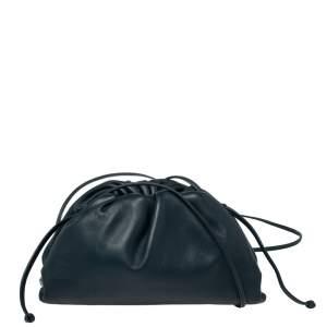 Bottega Veneta Dark Teal Leather Mini The Pouch Shoulder Bag
