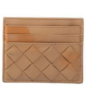 Bottega Veneta Brown Intrecciato Card Holder