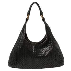 Bottega Veneta Black Intrecciato Leather Hobo