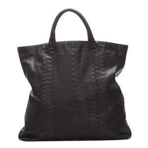 Bottega Veneta Dark Brown/Black Leather Tote Bag