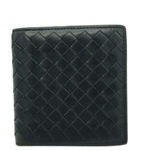 Bottega Veneta Blue Leather Intrecciato Wallet