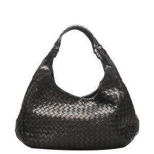 Bottega Veneta Black Leather Campana Hobo Bag