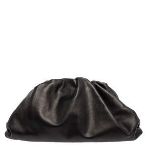 Bottega Veneta Black Leather The Pouch Clutch