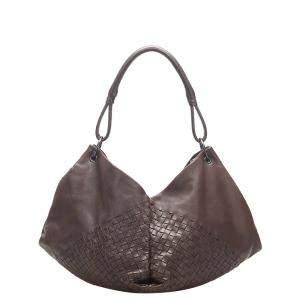 Bottega Veneta Brown Intrecciato Nappa Leather Aquilone Fortune Cookie Hobo Bag