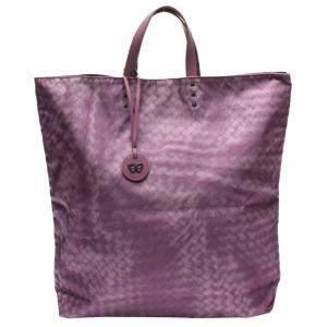 Bottega Veneta Purple Leather Tote