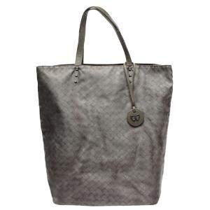 Bottega Veneta Grey Leather Tote