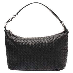 Bottega Veneta Black Leather Hobo