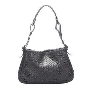Bottega Veneta Black Calf Leather Shoulder Bag