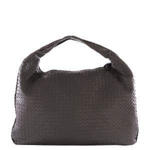 Bottega Veneta Brown Nappa Intrecciato Leather Veneta Large Hobo bag