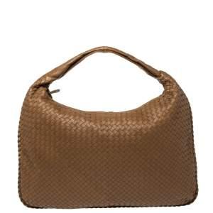 Bottega Veneta Brown Intrecciato Leather Maxi Veneta Hobo