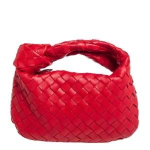 حقيبة بوتيغا فينيتا ميني بي في جودي جلد أحمر