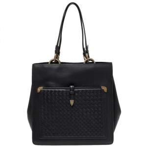 Bottega Veneta Black Leather Shopper Tote