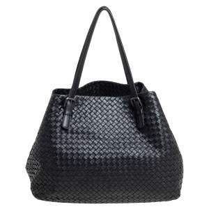 Bottega Veneta Black Intrecciato Leather Large Cesta Tote