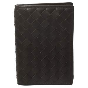 Bottega Veneta Brown Intrecciato Leather Card Holder