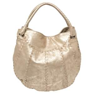 Bottega Veneta Metallic Gold Leather Hobo