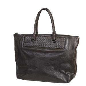 Bottega Veneta Grey Leather Cervo Tote Bag