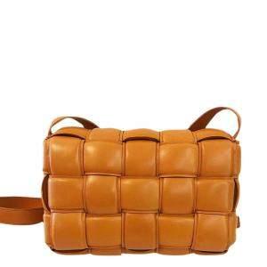 Bottega Veneta Brown Leather Padded Cassette Crossbody Bag